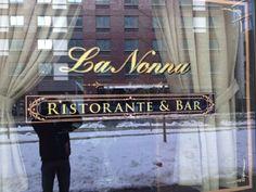 Gold Leaf sign by www.roycesignworks.com for  La Nonna Ristorante & Bar in Brooklyn, NY