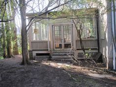 Love the charm of this three season porch! I wish mine had the original windows and doors like this!