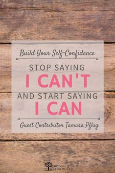 Learn how to build self-confidence and finally feel secure. Change your thoughts from I can't to I can. Self-Confidence Positive Self Talk, Negative Self Talk, Negative Emotions, Negative Thoughts, Building Self Confidence, Confidence Tips, Self Development, Personal Development, When You Believe