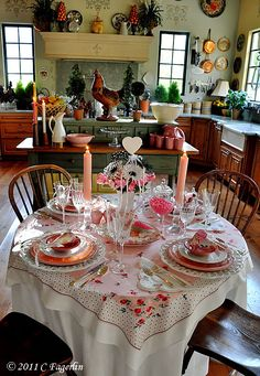 The Little Round Table: Pretty In Pink - Valentine Tablescape