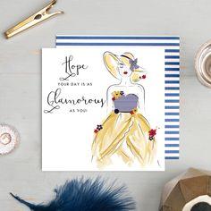 Luxury Birthday Cards, Handmade Birthday Cards, Square Envelopes, Fabulous Birthday, Stoke On Trent, Navy Stripes, Pom Poms, Silver Glitter, To My Daughter