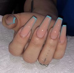 Easy DIY Valentines Nail Designs for Short Nails – Resk Simple Acrylic Nails, Blue Acrylic Nails, Square Acrylic Nails, Square Nails, Acrylic Nail Art, Acrylic Nails With Design, Summer Acrylic Nails Designs, Gel Acrylic Nails, Aycrlic Nails