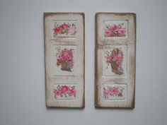 Two Shutters Shabby Chic Roses  Painting  by cinderellamoments, $12.00