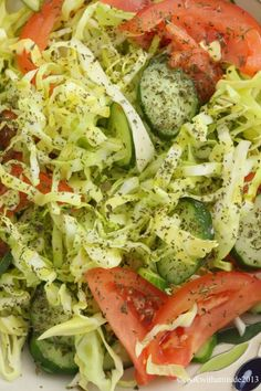 Lebanese Cabbage Salad - tangy and light. (always looking for what to do with leftover cabbage)