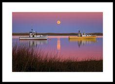 Supermoon over Cape Cod framed photograph for sale by photographer Dapixara.