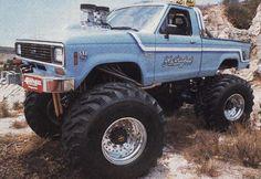"real Ford Trucks in ""Monster Form"" Big Ford Trucks, Lifted Ford Trucks, Mini Trucks, 4x4 Trucks, Diesel Trucks, Custom Trucks, Cool Trucks, Ford Diesel, Ford Ranger Truck"