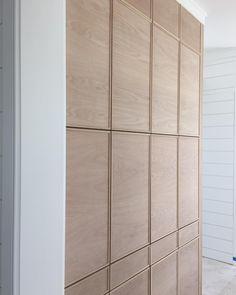 Oh golden white oak, you make us sooo happy! Keep the cabinets coming. Interior Walls, Interior And Exterior, White Oak Kitchen, Oak Wardrobe, Joinery Details, Oak Shelves, Oak Kitchen Cabinets, Oak Panels, Wall Treatments
