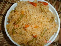 Jalfraize Rice is a one pot meal, easy to prepare for vacations. Vegetarian Rice Dishes, One Pot Meals, Vacations, Tasty, Indian, Green, Food, Meal, Vacation