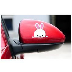 Reflective car stickers Rear View Mirror, Car Stickers, Funny Signs, Decoration, Automobile, Motorcycles, Cartoon, Cute, Crafts