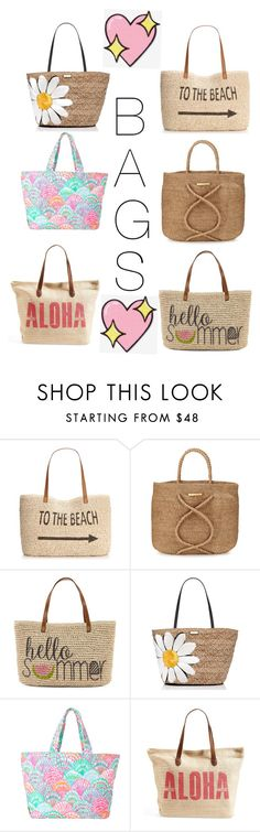 """""""Beach bags"""" by adords1 ❤ liked on Polyvore featuring beauty, Style & Co., ViX, Straw Studios, Kate Spade, Lilly Pulitzer, Rip Curl and Big Bud Press"""