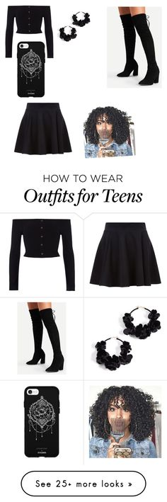 """""""Untitled #40"""" by crystal-dumashie on Polyvore featuring River Island, Oscar de la Renta and Fifth & Ninth"""