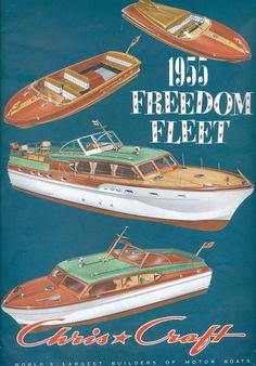 Chris Craft Boat Catalog Cover 1955 Freedom Fleet