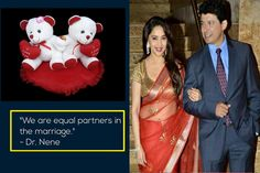 """We are equal partners in the #marriage."" Dr. Sriram Madhav Nene, husband of #MadhuriDixit."