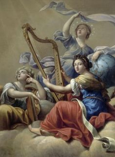 Mignard, Pierre (1612-1695) - The Muses Calliope, Uranie and Terpsichore - Pinterest