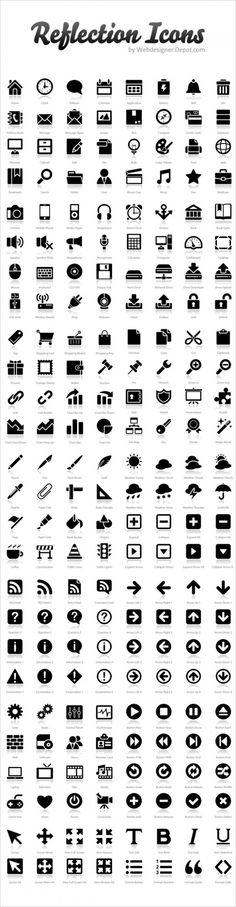 Reflections icons