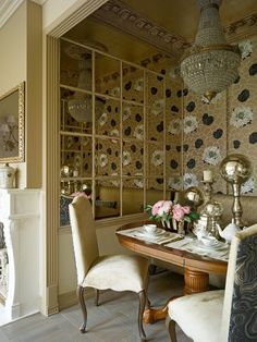 Dining Room Chandelier Accent Mirror Wallpaper Ouval Wooden Dining Table Ceramic Teaset Pink Rose Candle Holder Table Decoration Cream Futon Dining Chair Grey Tiles Side Board Tiny Dining Room Ideas for People with Small Place to Live