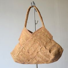 Sophie digard tote bag - natural raffia macrame