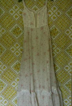 1970's Sleeveless Prairie Dress by AsphodelVintage on Etsy. {i want that wallpaper!!!}