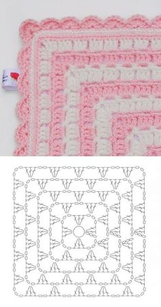 New Free Crochet afghan shell Thoughts Stoff 2 Crochet Baby Blanket Free Pattern, Granny Square Crochet Pattern, Crochet Pillow, Crochet Squares, Crochet Granny, Crochet Motif, Crochet Doilies, Crochet Stitches, Crochet Patterns