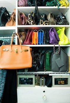 Luxury resale store, find pre-owned fashion on Vestiaire Collective Hermes Bags Handbag Storage, Handbag Organization, Closet Organization, Handbags Michael Kors, Purses And Handbags, Fendi Purses, Luxury Handbags, Coach Purses, June Ambrose