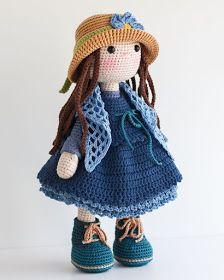 Mesmerizing Crochet an Amigurumi Rabbit Ideas. Lovely Crochet an Amigurumi Rabbit Ideas. Amigurumi Doll, Amigurumi Patterns, Doll Patterns, Crochet Doll Pattern, Crochet Dolls, Crochet Patterns, Love Crochet, Crochet Baby, Rainbow Crochet
