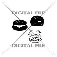 Three Burgers Vector Images Vinyl Decal by GuysAfterConception