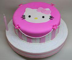 Kitty Cake by Violeta Glace Bolo Kitty, Kitty Cake, Hello Kitty Birthday Cake, Dessert Decoration, Sweet Cakes, Goodies, Birthdays, Friends, Desserts