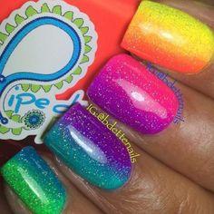Bright nails neon, bright nails for summer, neon nails, neon nail art Bright Nails Neon, Neon Nails, Cute Acrylic Nails, Diy Nails, Short Nail Designs, Toe Nail Designs, Nail Polish Designs, Art Designs, Bright Nail Designs