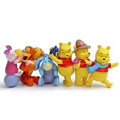 Disney Products For Kids 6Pcs/Set Cute Cartoon Plastic Action Figures Mini Model Dolls Brinquedos Birthday Gifts F060