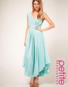 aqua maxi dress (in petite!!)