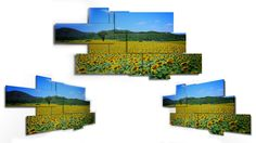 9 pieces wall art - 212x104 cm