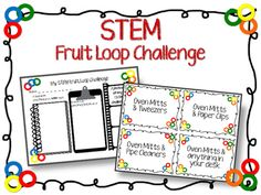 STEM Fruit Loop Challenge is an exciting way to promote critical thinking skills and problem solving. Students must problem solve to get fruit loop on a string using only the tools on their task card. =================================================This pack includes: *Materials & Instructional Guide*Questioning Page * Student Draw & Write Response Sheet* Tool Task Cards================================================I would love to hear from you, please leave me a rating & comment!