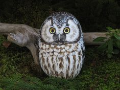 painted rock owl