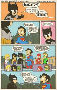 JL8 #50B by Yale Stewart Based on characters in DC Comics. Creative content © Yale Stewart. Like the Facebook page here!