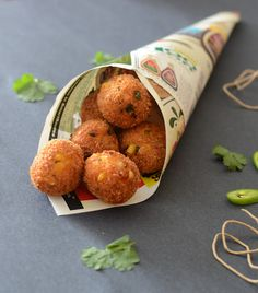Corn, Green Chili & Cheese Bites. We'll eat anything wrapped in paper like this!