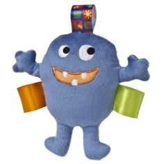 Taggies Max the Monster Plush Rattle, Blue by Taggies. $8.98. From the Manufacturer                Baby's first monster, Max the Monster is a little monster that's more cute than scary. With truly innovative attributes and small beginnings, Taggies has revolutionized and redefined how little ones feel secure and engaged in play. Originating with a mother's observation that her baby was more interested in the satin tags on toys than the object itself, today Taggies offers a b...