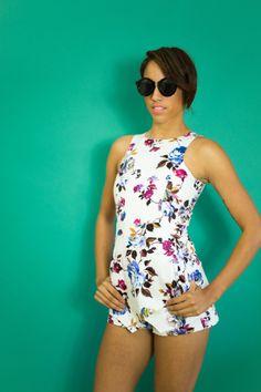 Aubree Floral Skort Romper — Women's Clothing - Westwood Boutique - MODLOOK 29