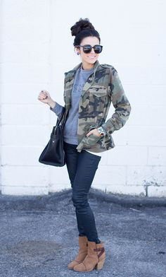 Camo Jacket with Booties