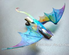 Dragon Hair Combs Various Colours iridescent shimmering