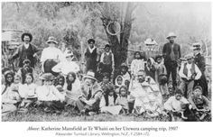Katherine Mansfield's 1907 camping trip. (Can't tell where she is either...)