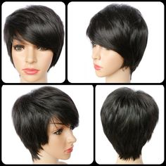 Spiffy Short Pixie Cut Straight Synthetic Side Bang Capless Wig #>=#>=#>=#>=#> Click on the pin to check out discount price, color, size, shipping, etc. Save and like it!