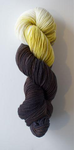 WANT. Three Irish Girls custom yarn for The Net Loft in Alaska.  Designed to look like a bald eagle.