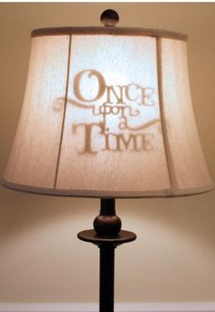 DIY,Little Girl's Princess Room decor,Once Upon a Time lamp shade