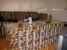 Beer Can Art, Cool Tables, Fractions, Home Brewing, Man Cave, Canning, Cool Stuff, How To Make, Crafts
