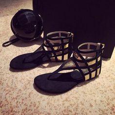 Elegant Cage Open Sandals