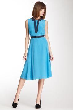 Orla Kiely Silk Crepe Collar Dress