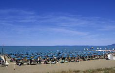 One of the sandy beaches, perfect for a familiy holiday #mare #sea #beach #maremma #tuscany