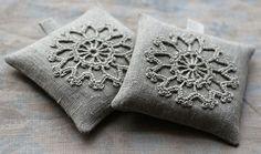 crochet sachets de lavande