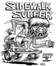 1423 best automotive cartoons drawings images rat fink 1955 Chevy Truck Rat Rod sidewalk surfer by big daddy roth cartoon rat cartoon monsters cartoon pics cartoon