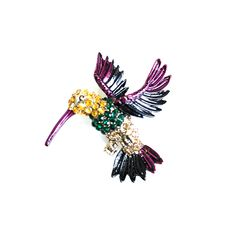 JEWELLED HUMMINGBIRD BROOCH Hummingbird, Happy Shopping, Brooch, Buttons, Jewels, Stuff To Buy, Accessories, Collection, Jewerly